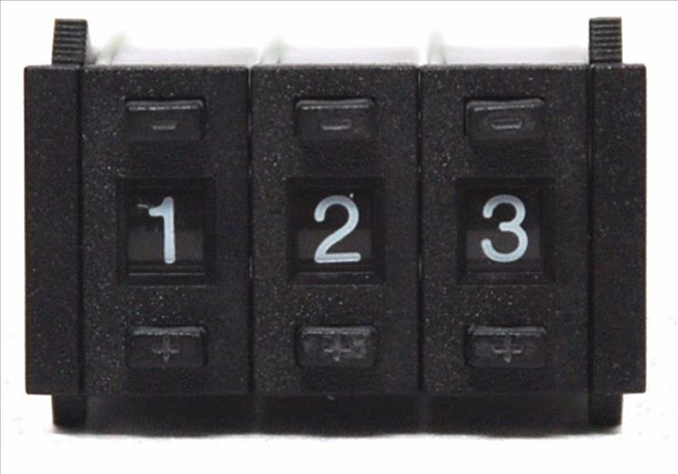 A simple 3 digit display with buttons to set the digits to the number you require