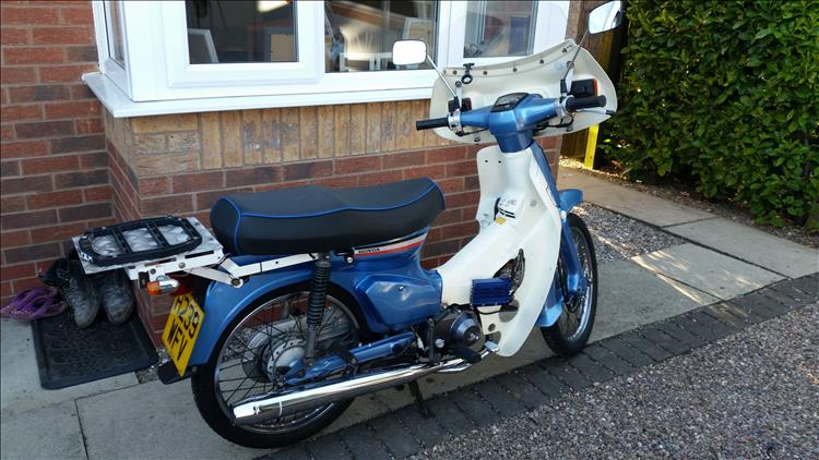 The freshly restored C90 looking as good as new