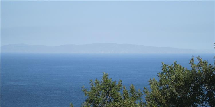 Across the hazy waters we can make out land in the distance, could it be Mull of Kintyre?