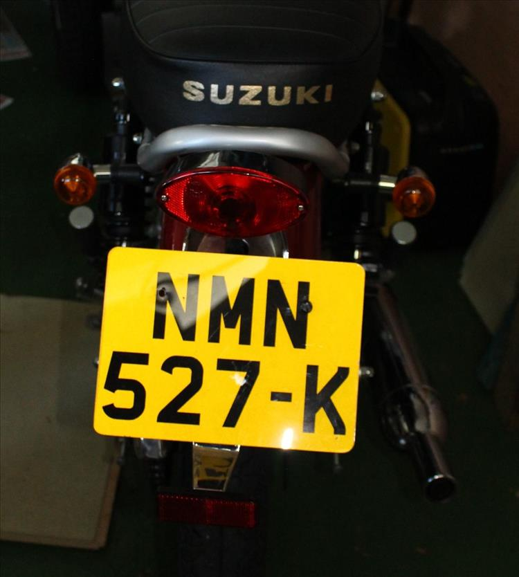 The original and standard number plate on the Herald