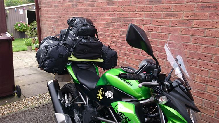 The luggage on the Z250SL and Tour-A-Plank