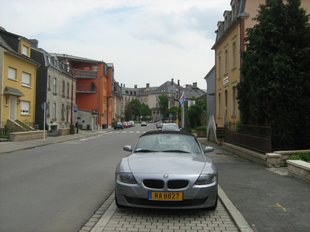a clean and pleasant street in a luxemburg town