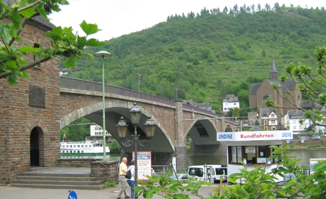 a bridge over the river mosel at cochem