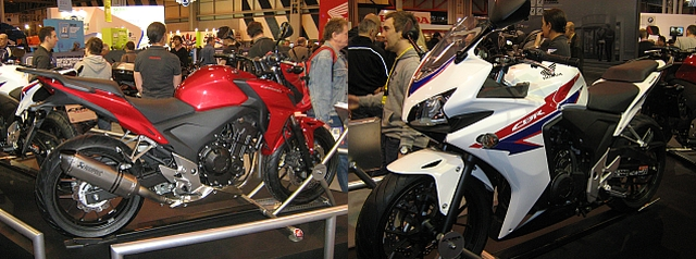 Montage of CB 500 and CBR 500