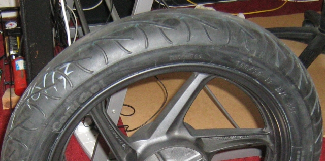 Continental Contigo Tyres on CBF125 Rim