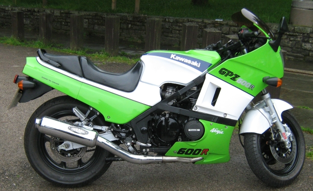 the completely restored and rebuilt GPZ 600 R
