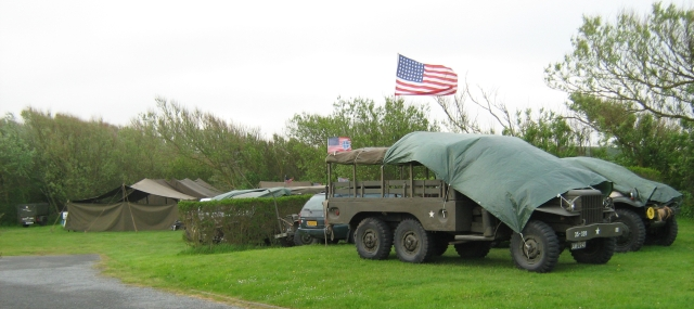 world war two military trucks with military tents at the campsite in wimeraux