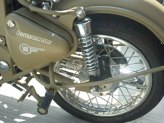 rear end with suspension and subframe on the enfield 500