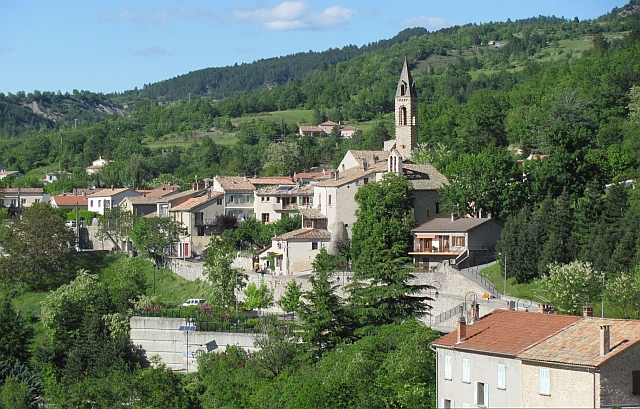 church and houses at sisteron