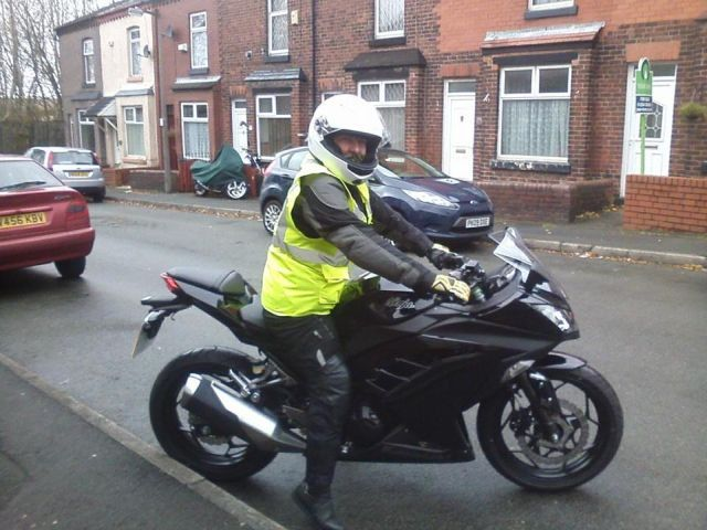 Di on a gpz 300 ninja, comfortable with the lower weight