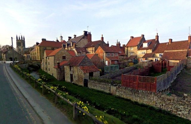 the pretty town of helmsley in the sunshine