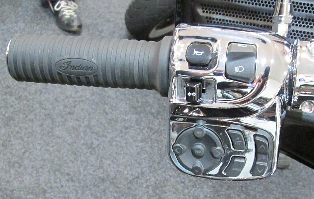 complex left hand switch gear on the indian chieftain