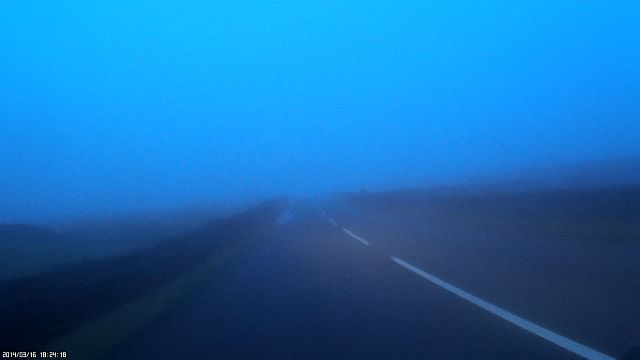 mist and fading light on the road to ingleton