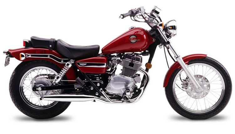 honda cmx 250 rebel on a white background