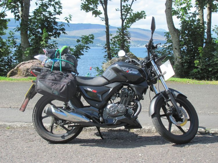 Sharon's keeway rks 125 now with 9000 miles on the clock