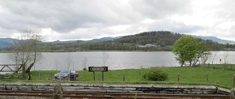 Bala Lake seen from the tiny platform at pentrepiod
