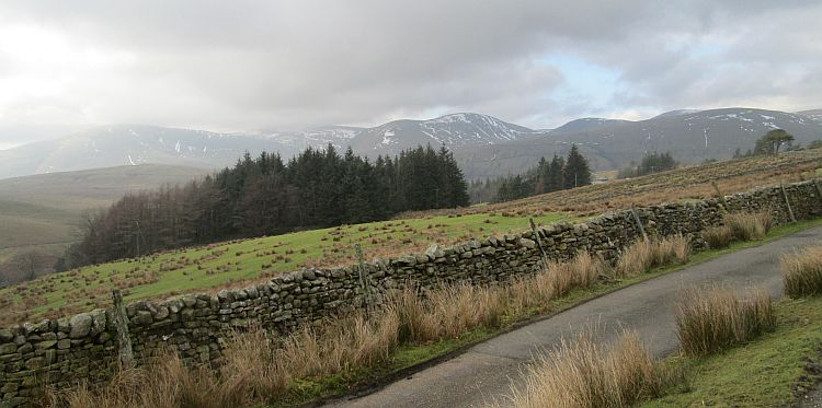 big large rolling hills in the dales and cumbria near Kirkby Stephen