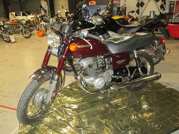 A Honda CD200 Benly in excellent condition at the show