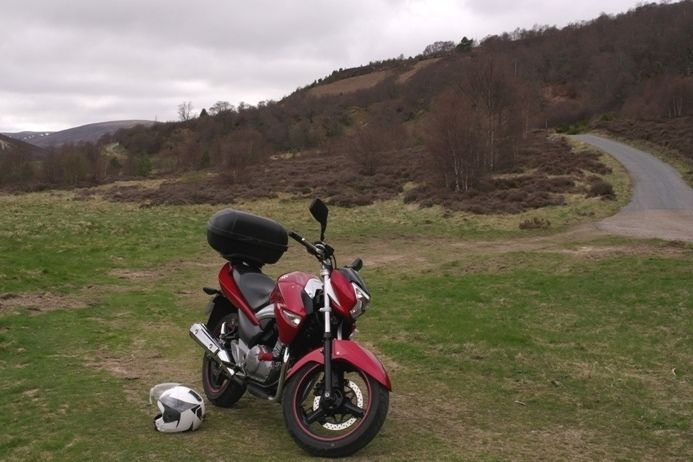 the newly purchased inazuma in the scottish countryside, Rory's first trip