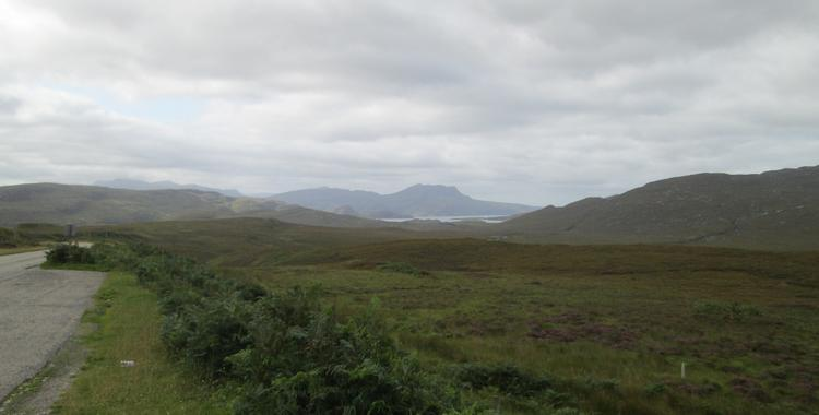 Views across Highland mountains and Lochs near Ullapool