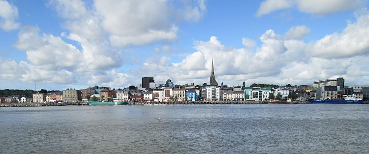 Wexford seen from across the broad estuary. A charming town