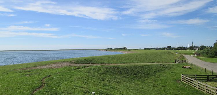 A Dutch dyke, about the highest prominence on the landscape.