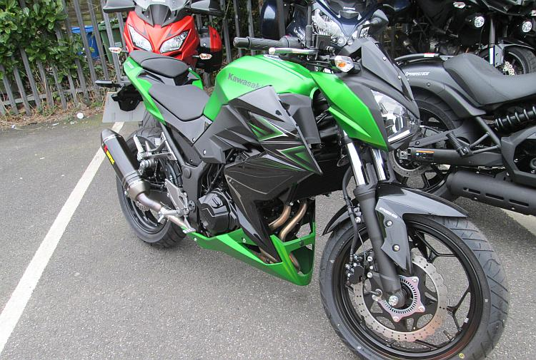 Side view of Kawasaki's new Z300