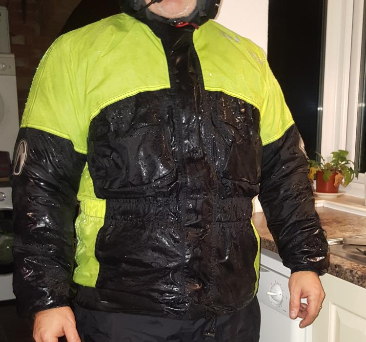The Richa Rain Warrior Jacket as modelled by Pete