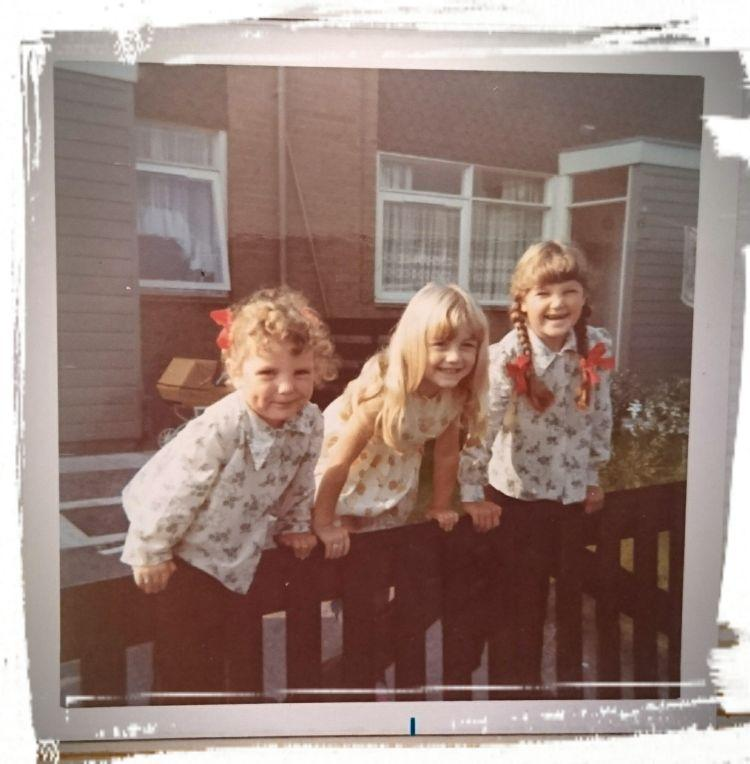Sharon, her friend and her sister when they were all young children