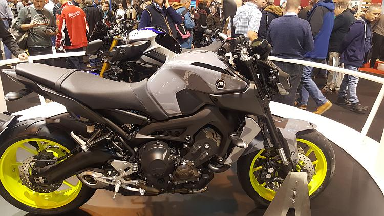 The 2107 Yamaha MT09 at the NEC Show