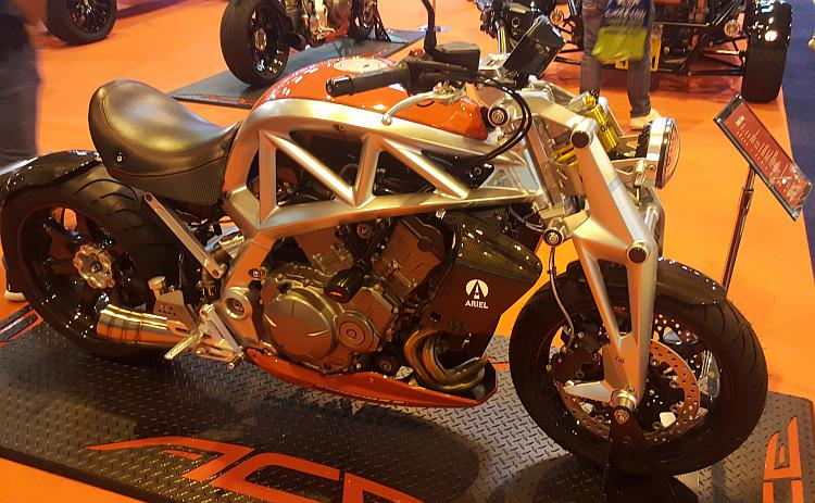 The ace from ariel this time lighter colours of alloy metal and orange tank