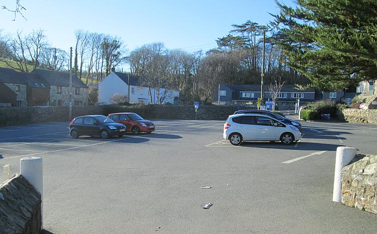 An almost empty car park at Charlestown near St Austell