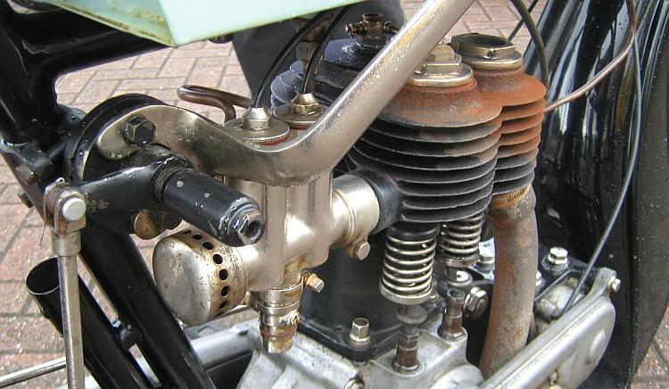 A very old vintage motorcycle engine