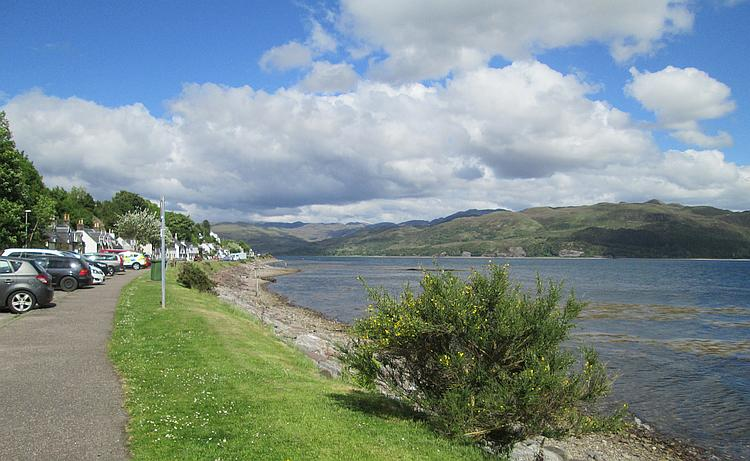 Looking out over Loch Carron from the little village of Lochcarron