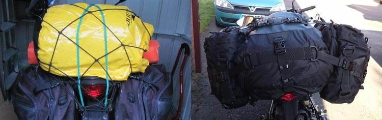 On the left the old bags and on the right the new luggage