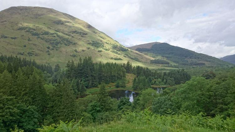 Massive mountains, small lochs, trees and steep hills all make Glencoe quite amazing