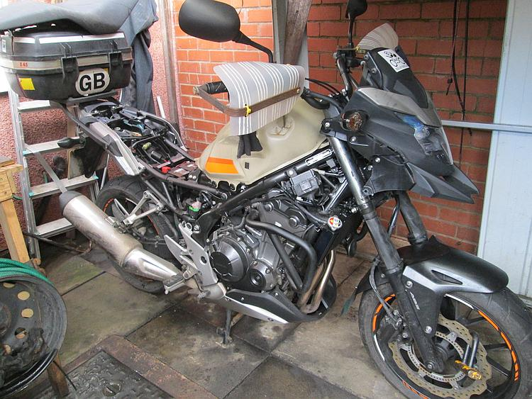 CB500X with all fairings removed