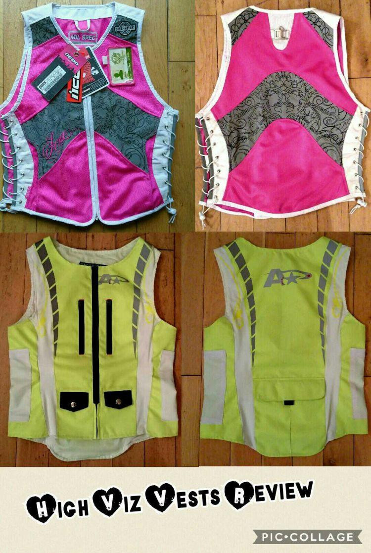 front and back of the icon mil-spec and moto star ladies high viz jackets